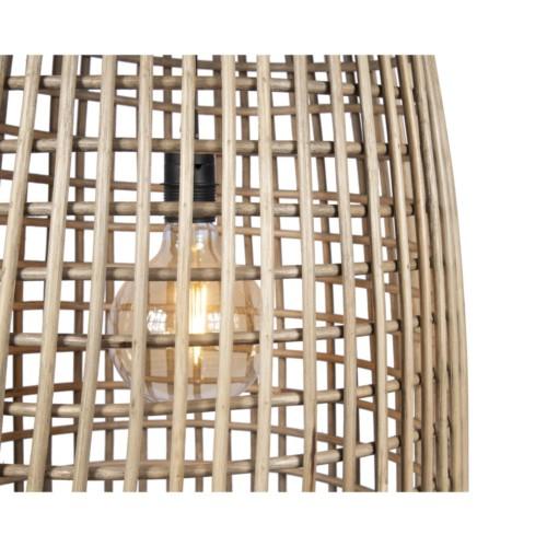 Maillage en rotin naturel luminaire suspendu