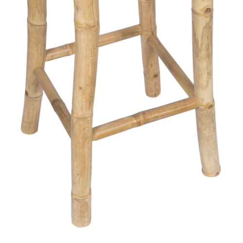 Pieds tabouret en bambou