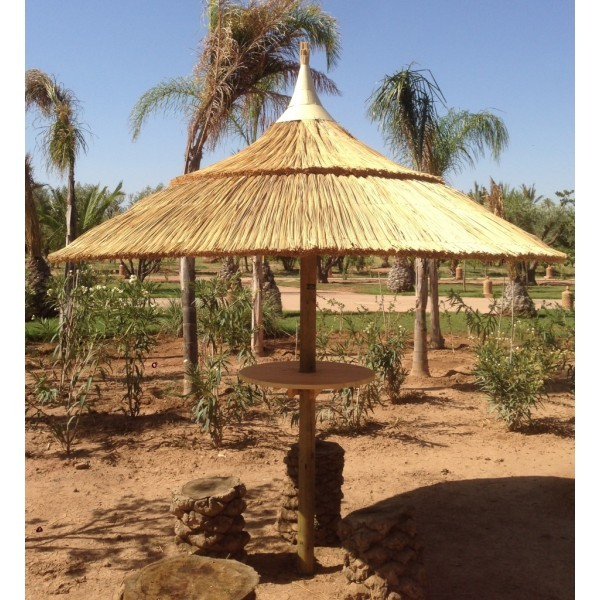 parasol naturel avec tablette brin d 39 ombre sp cialiste parasols. Black Bedroom Furniture Sets. Home Design Ideas